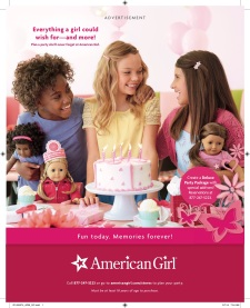 American Girl party ad